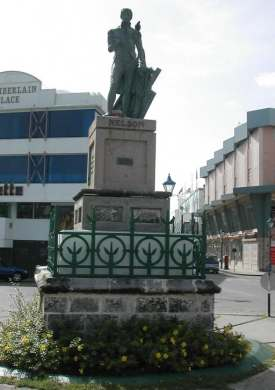 barbados capital nelson statue