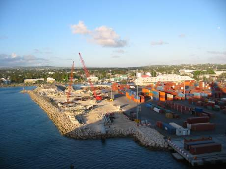Containers at the Barbados Port
