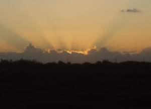 Barbados weather sunset