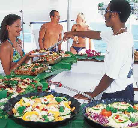 catamaran barbados buffet