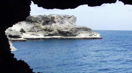 view from flower cave in Barbados